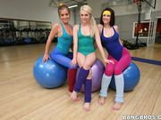 blonde, lesbian, white, yoga