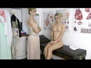 schoolgirl uniform blonde stripping