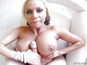 big tits, blonde, cum, tits