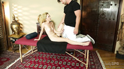 submissive blonde tricked her