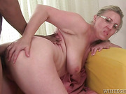 mature blonde with huge