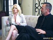 during sex sofa blondie