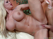 gorgeous blonde with huge