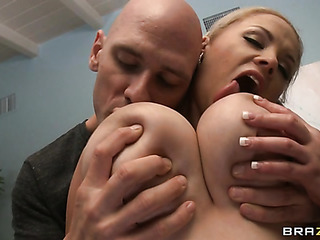 showy blonde with massive
