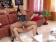 babe, corset, couch, ebony