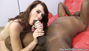 hungry brunette satisfies her