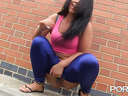 exotic brunette pink and