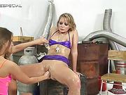 horny slut gets all