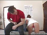 sexy brunette nurse full