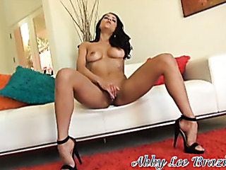 glamour young brunette soloing