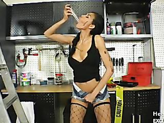 brunette black dress shows