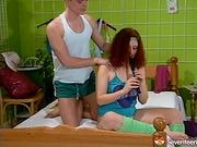 anal, redhead, teen, vintage