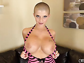 buzz cut babe with