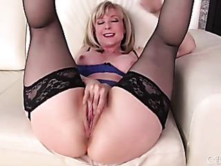 mature blonde with big