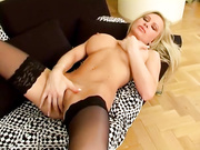 pierced belly blonde with