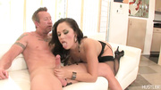 cock hungry brunette black