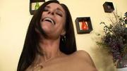 brunette milf black lingerie