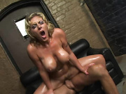 busty blonde slut oiled