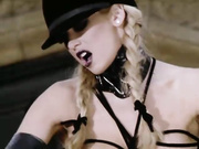 blonde lesbian dominatrix leather
