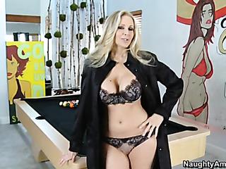 busty blonde wife black