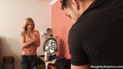 peeping tom caught blonde