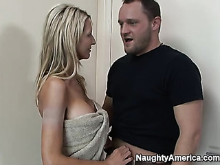 amazing blonde begs for