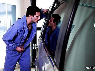 two horny car mechanics