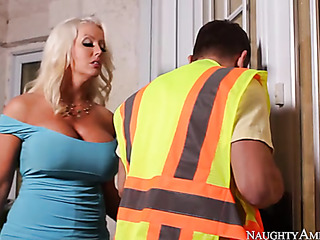 busty babe gets maintenance
