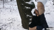 winter blowjob brunette white