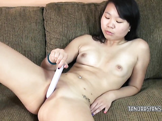 cute coed asian sitting