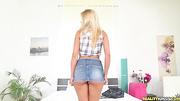 sexy blonde skirt gets