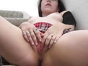 Pornstar Sindy Sinn masturbation to orgasm