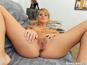 blonde, cum, small tits, white