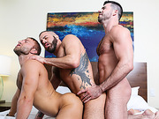 Three bears get to the bedroom for some hot oral and anal threeway.