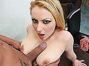 big tits, desk, shaved, snatch