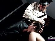Busty ponytailed slut gets her snatch teased with wire vibro before toy drilling and fucking