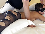 Man places a vibrator between the ass cheeks of a chick who is more than willing to submit.
