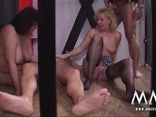 three mature bitches pleasing