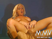 Mysterious adventure of busty blonde stunner fucking with two Arabic sheikhs
