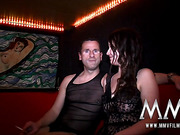 Experienced swingers talking about their relation to sex before hardcore orgy