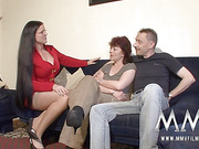 brunette mature bitch with