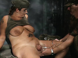 military man uses pussy