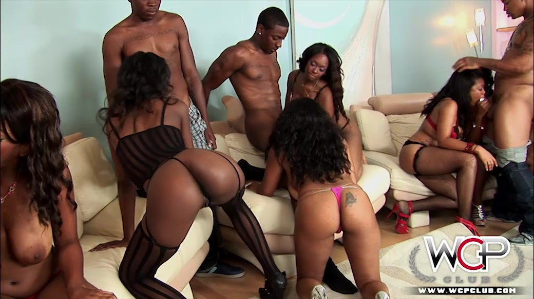 Ebony Orgy Party 58