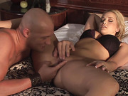 Hot blonde perfects her hand job technique, and her man masters his fingering tactics.