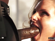 Big-boobed blonde MILF assfucked by big black cock