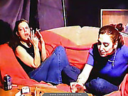 Red MILF and her bitchy friend smoking and chatting