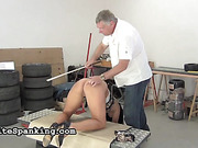 Man's workroom becomes a place for BDSM entertainments