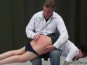 Man pulled down beautiful girl's black panties to have fun