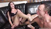brunette chick gets her