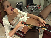 ass, fucking machines, office, squirt